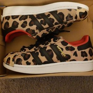 Girls J.Crew Cheetah Print Adidas